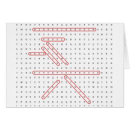 Anytime Word Search Geek Greeting Card