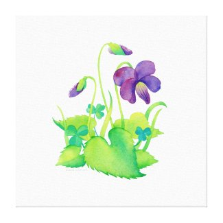 Wrapped Canvas - Wild Violet - Watercolor Canvas Print