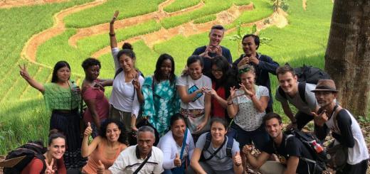Peserta Field Visit/Kunjungan Lapang GLF di Cepak Situ -  Hutan Adat Kasepuhan Karang