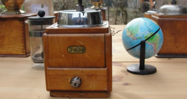 The spare beauty of an antique grinder