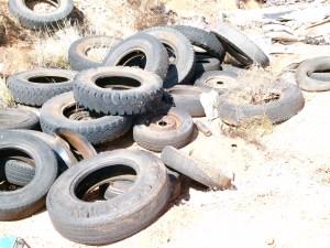 Tyre Graveyard.