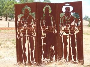 Sculpture near the Julimar Strip turnoff.