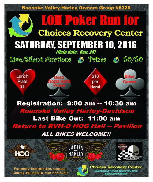 Choices Recovery Poker Run FINAL Approved