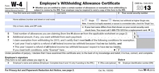 California W4 Tax Form 2013 2016 - Form 4506 2016 | Online Trending ...
