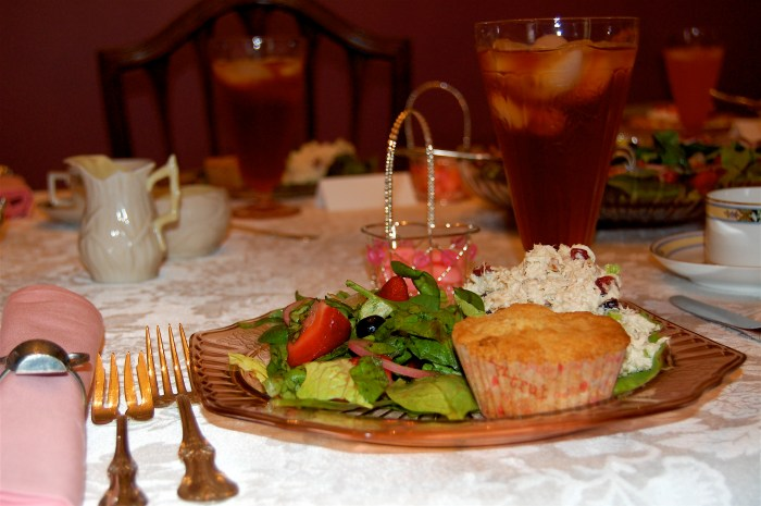 Valentine Tea Party menu