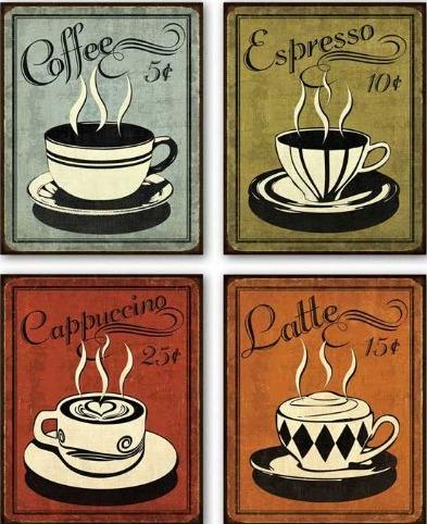 Coffee-espresso-cappuccino-latte print
