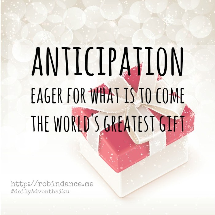 Anticipation - Daily Advent Haiku by Robin Dance