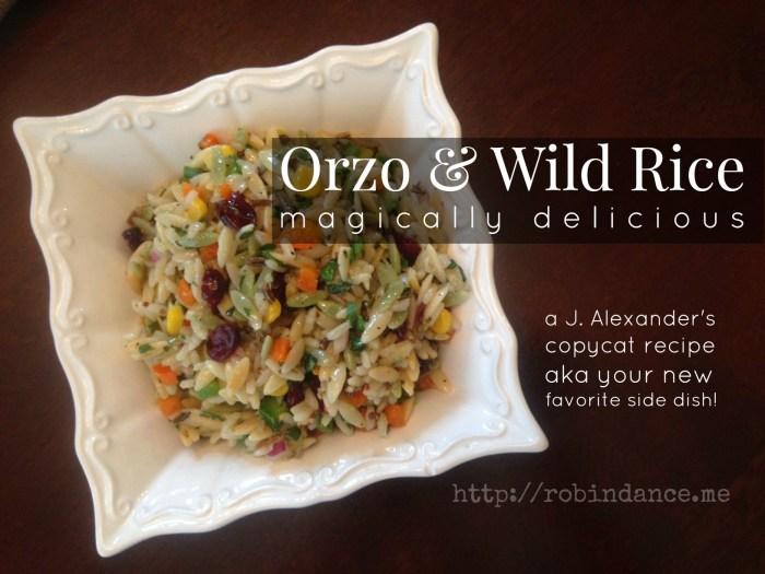 Orzo and Wild Rice - J Alexanders Copycat Recipe