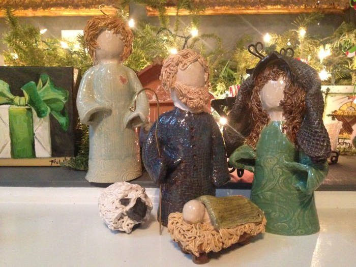Handmade Clay Nativity