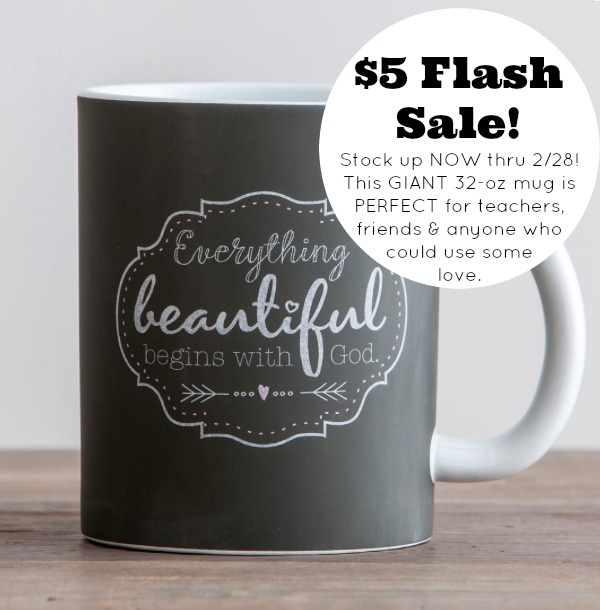 Everything Beautiful Large Chalkboard Mug Flash Sale