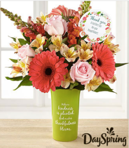 DaySpring® Gratitude & Grace Thank You Bouquet