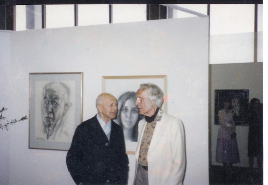 Paul Citroen en Carel Willink exposeerden samen in het oude postkantoor Den Helder, thans Rob Scholte Museum (foto Sylvia Willink)