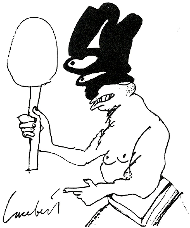Lucebert – Tekening (gepubliceerd in Raster 30, 1984)