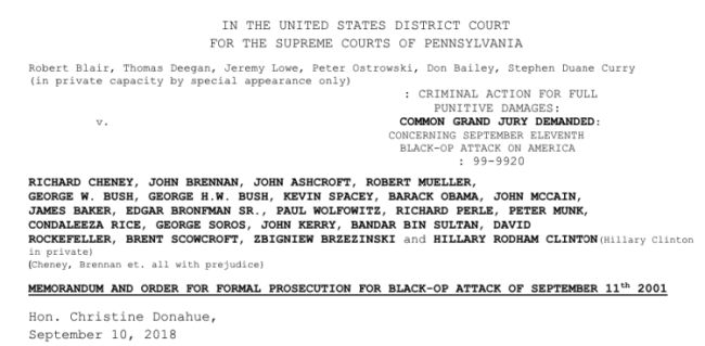 Memorium and order for procecution from Grand Jury (foto Before It's News_