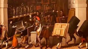 François Bunel - De inbeslagname van het atelier van een schilder