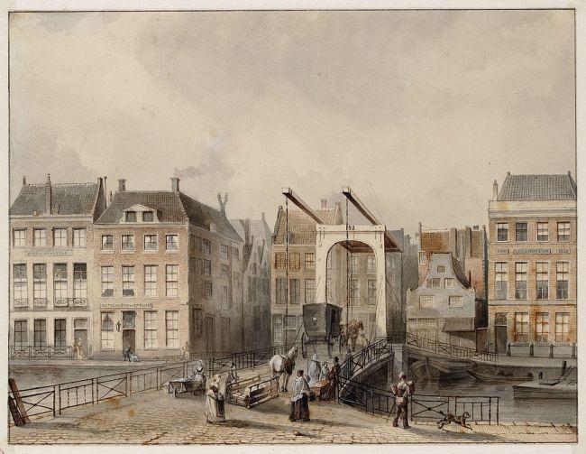 Tétar van Elven - Eerste gebouw van links Grand Salon, aangrenzend Het Wapen van Utrecht, 1847