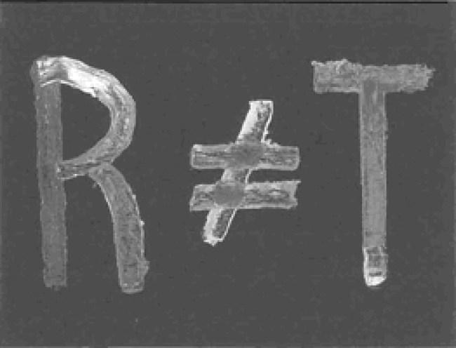 R≠T, schilderij van Koos Dalstra