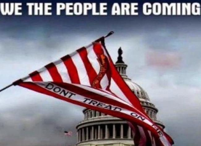 We The People Are Coming (foto Tom Heneghan Briefings)