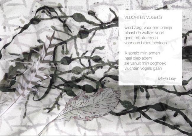 Een gedicht en illustratie van Marja Lely.