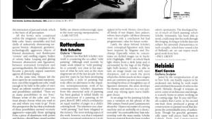 Paul Groot - Review Rob Scholte, 't Venster, Rotterdam, ARTFORUM, Vol. 24, Nr. 2, oktober 1985