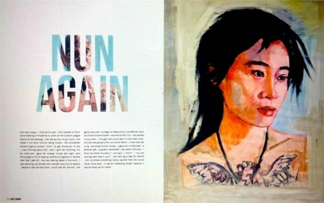 Nun again, pagina's uit Klashorsts Dirty Diaries, uitgegeven door Jaap Holtzapffel (foto Facebook)