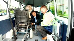 Rolstoel taxi inspectie (foto TaxiPro)