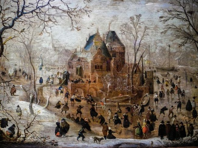 Hendrick Averkamp - Winter landschap (foto Wallraf-Richartz Museum, Köln)