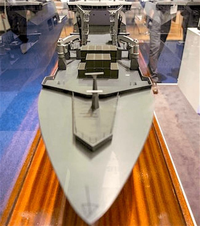 Model van het nieuwe marineschip Zr. Ms. Den Helder (foto Defensie)