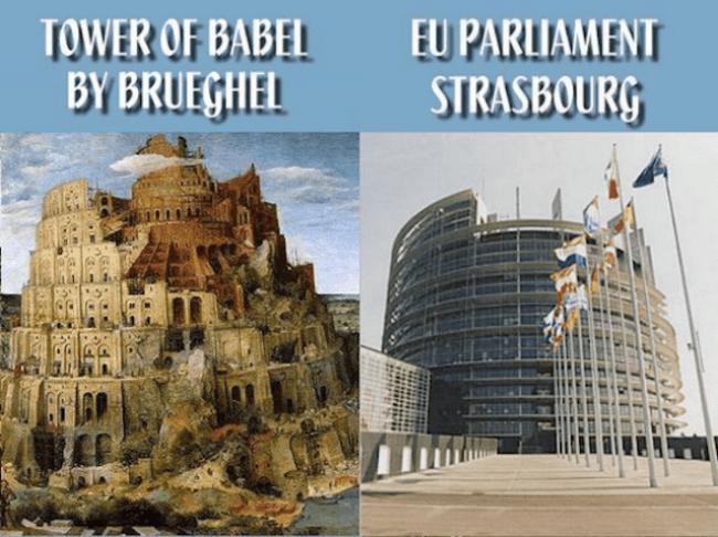 EU's new Tower of Babel (foto biblelight.net)