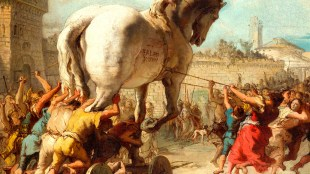 Giovanni Domenico Tiepolo - The Procession of the Trojan Horse in Troy