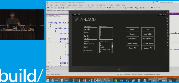 //build/ 2014: Wrap a Mobile API around your Enterprise and take Data Offline with NoSQL on Windows Phones and Tablets