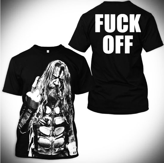 Rob Zombie tour t-shirt 2012