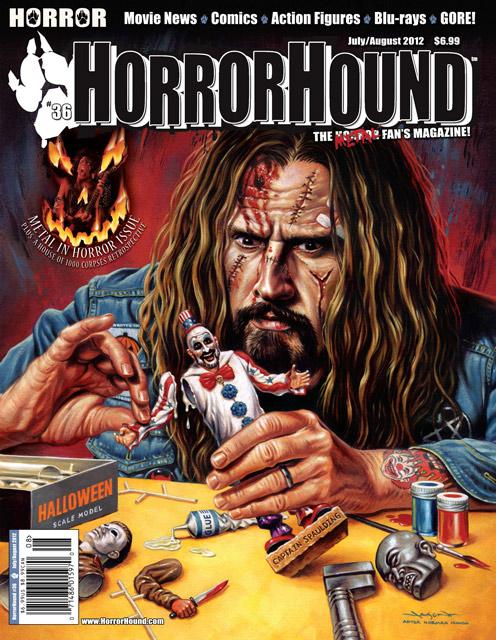 Rob Zombie featured on HorrorHound Magazines Issue 36