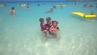 On the beach at Great Stirrup Cay