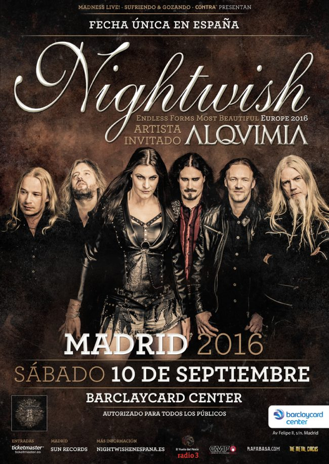 NIGHTWISH + ALQUIMIA en Madrid