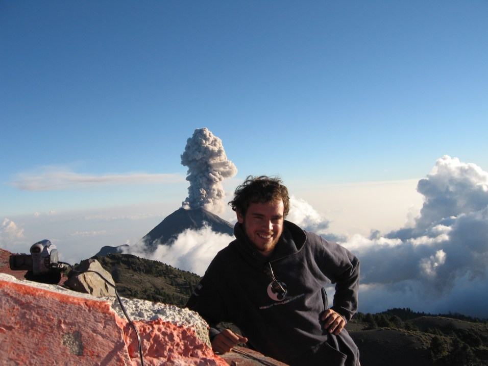 Mike Cassidy, Research Fellow, Volcanology. Photo copyright: Mike Cassidy.