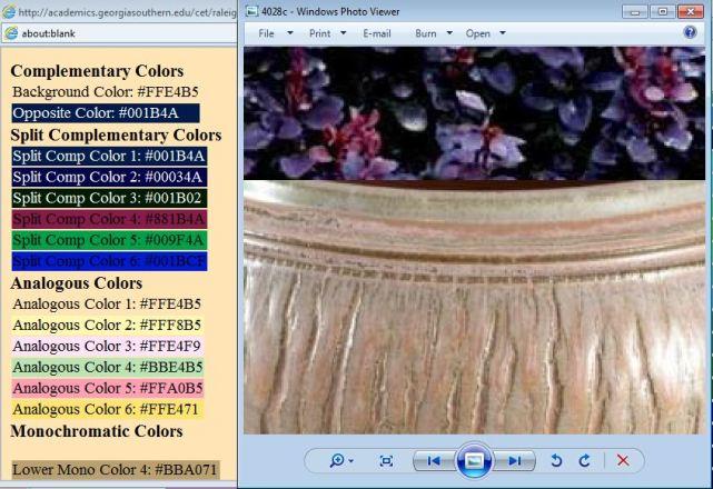 Color comparison Iker pot