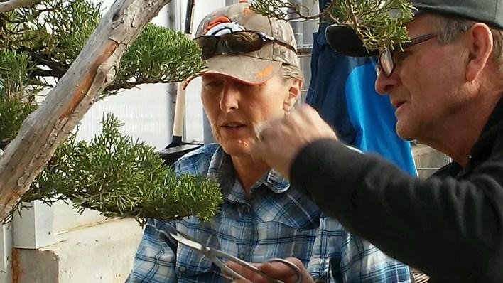 Larry instructing Terril on a Juniper