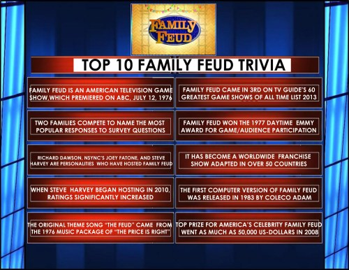 Breathtaking Answers Cards Family Feud Download Family Feud Survey Questions 2017 Family Feud Questions Family Feud Questions