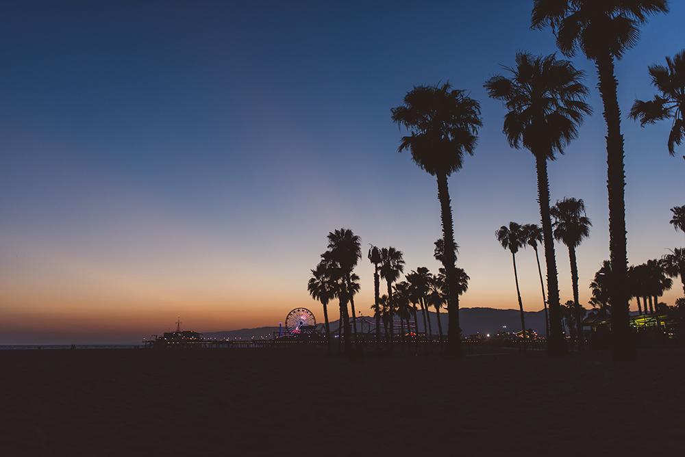 santa monica sunset shutters on the beach