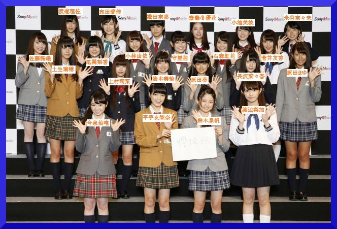 欅坂46集合写真名前有