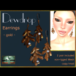 Bliensen + MaiTai - Dewdrop - Earrings - gold - Ad