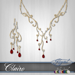 Claire - Jewelry Set - Gold (MultiJewel)