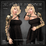 Forge Eldar Armour Female Gold