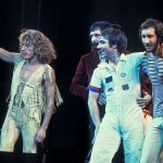 The Who, original line up, performing in Chicago in 1975. Left to right: Roger Daltrey, John Entwistle, Keith Moon, Pete Townshend. Photo: Jim Summaria/CC BY-SA 3.0/ Wikimedia Commons