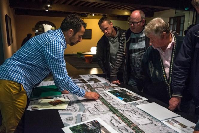 Bewoners en ondernemers wonnen op de inloopavonden informatie in en konden meteen ideeën inbrengen. Beeld Gemeente Leiden
