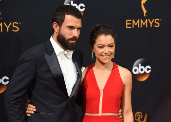 September 18, 2016 - Los Angeles, CA, USA - James Cullen, left, and Tatiana Maslany arrive at the 68th Annual Emmy Awards at the Microsoft Theater in Los Angeles, California on Sunday, September 18, 2016.   September 18, 2016