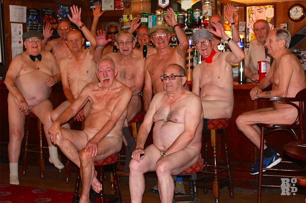 large group of naked men