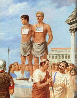 ancient roman boy slaves punished