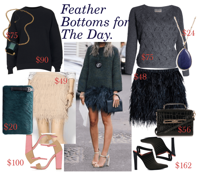 romeostyle feather skirt styled looks